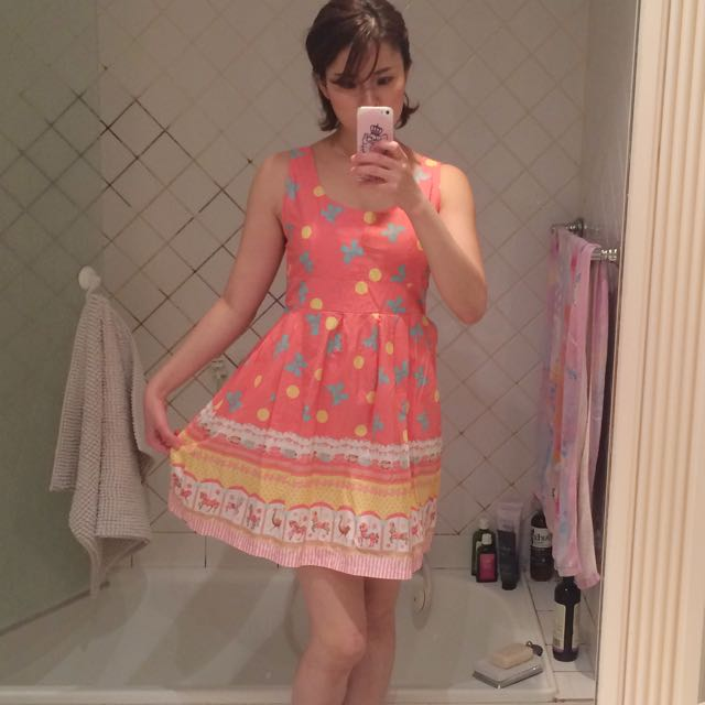 Madame Pompadour Carousell Dress - Pink