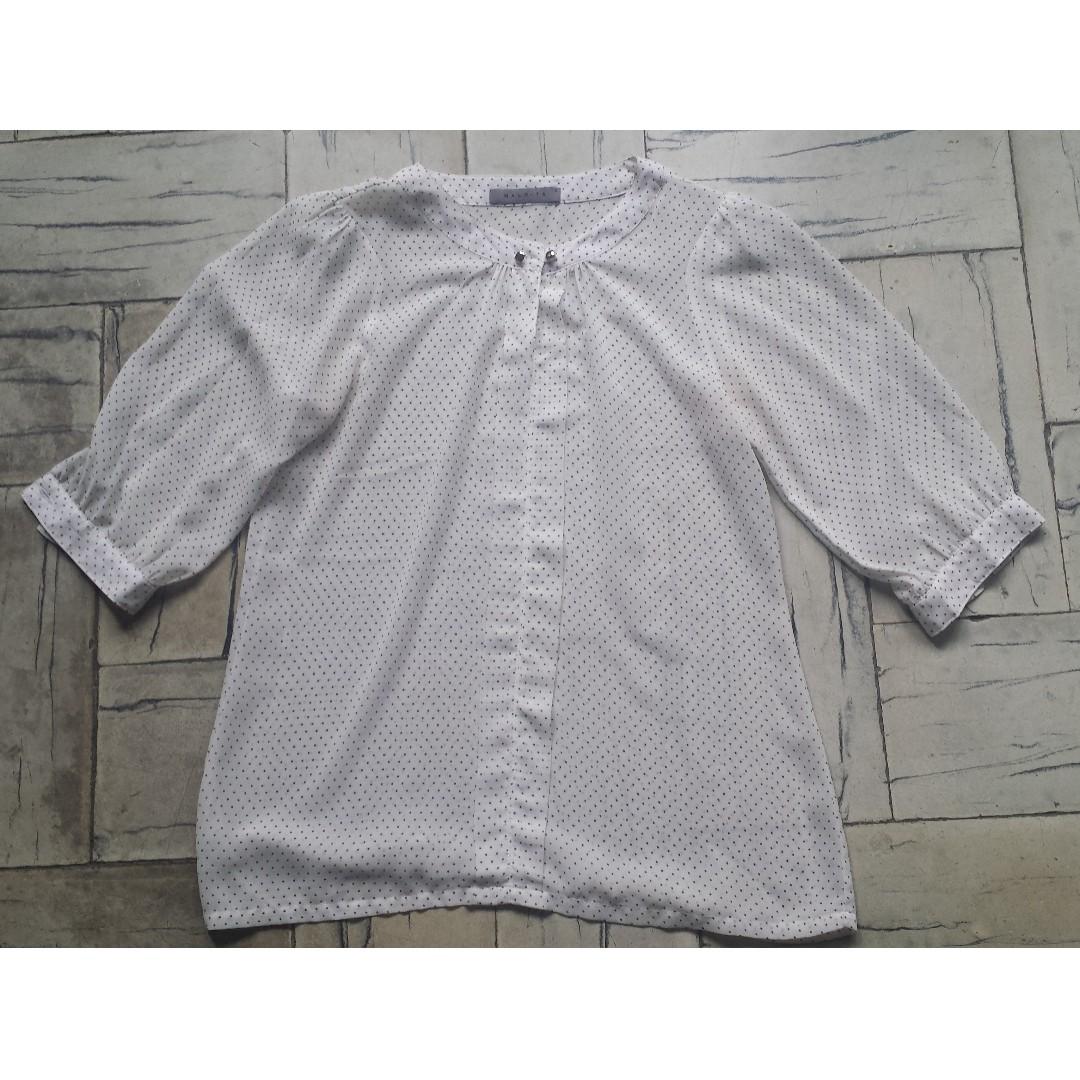 MALDITA polka dotted 3/4 blouse