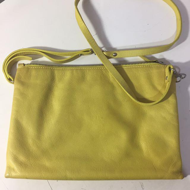 mango yellow sling bag