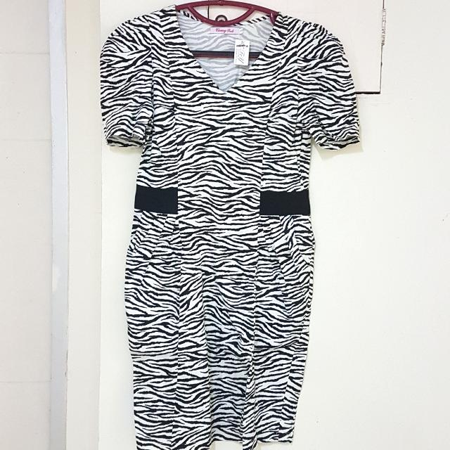 Midi Zebra Dress