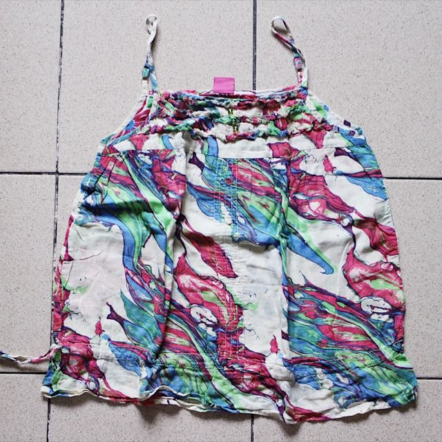 Multicolored Flowy Top