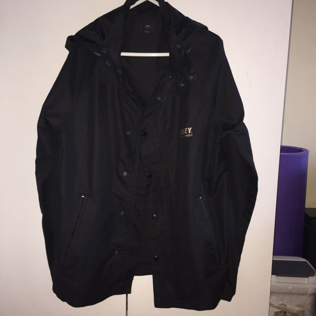 Obey Hooded Coaches/shell Jacket
