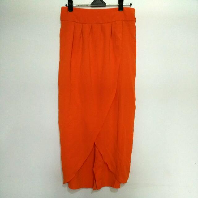 Orange Tulip Skirt - Preloved