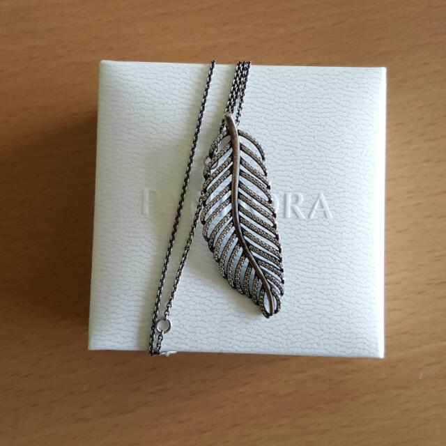 Pandora Feather Necklace