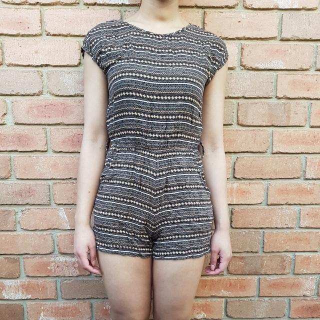 Patterned Print Playsuit