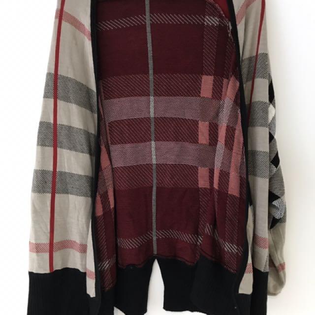 Plaid Pattern Cardigan