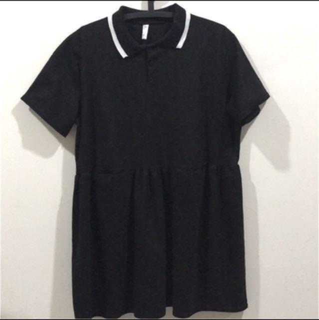 Polo衫黑洋裝