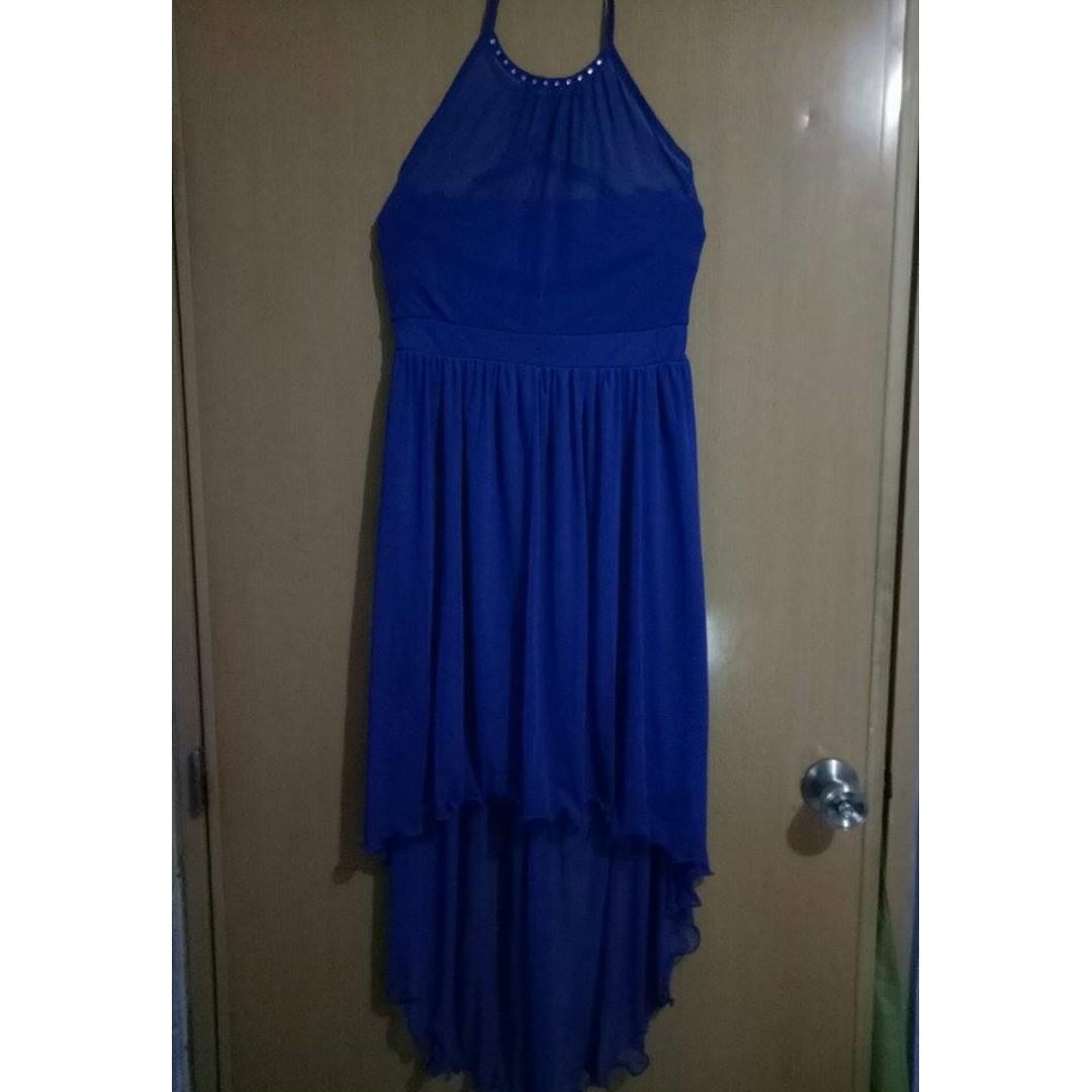 Pre loved Royal Blue Long-back dress