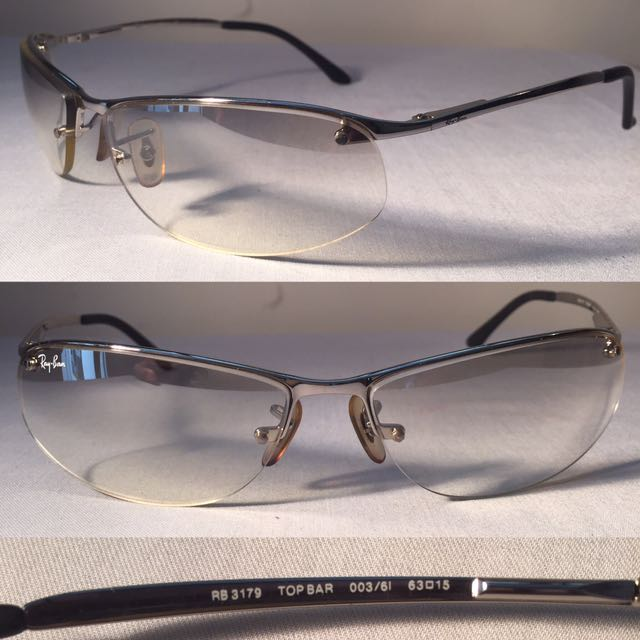 5ee1866fdd RAY BAN RB3179 TOP BAR SUNGLASSES Silver 63  15 Made in ITALY ...