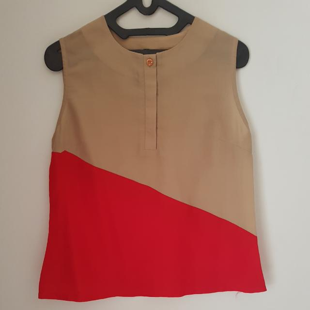 Red Khakia Top
