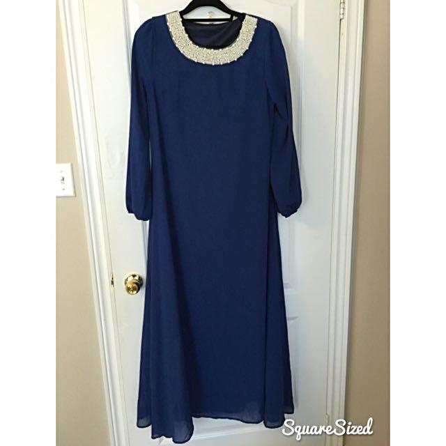 ROYAL BLUE KAFTAN DRESS