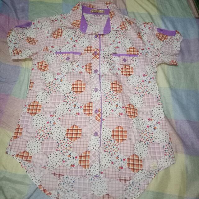 rrj floral blouse w/ collar