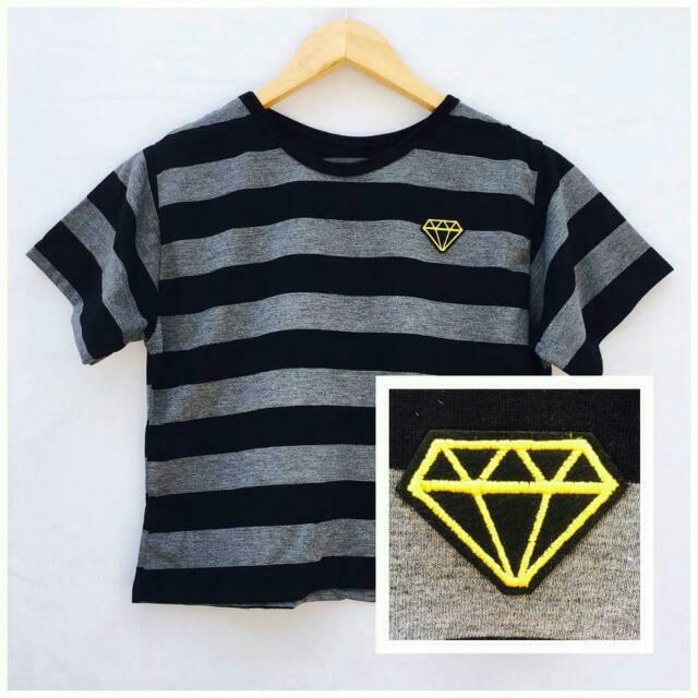 semi crop top patches