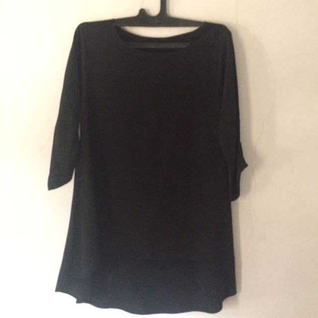 Simple Black Blouse