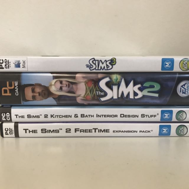 Sims 3, Sims 2 & x2 Expansion Pack Bundle