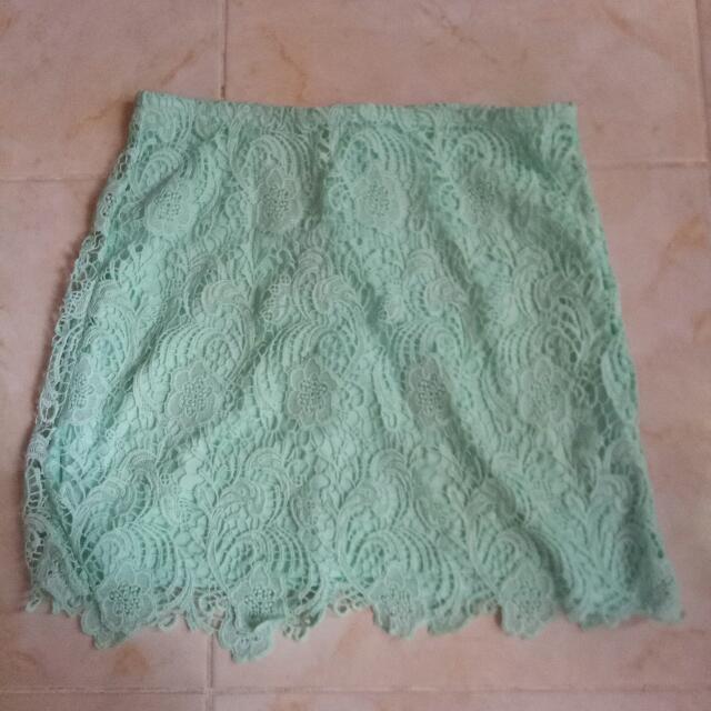 Sky Blue Lacey Skirt #skirtsbelow300