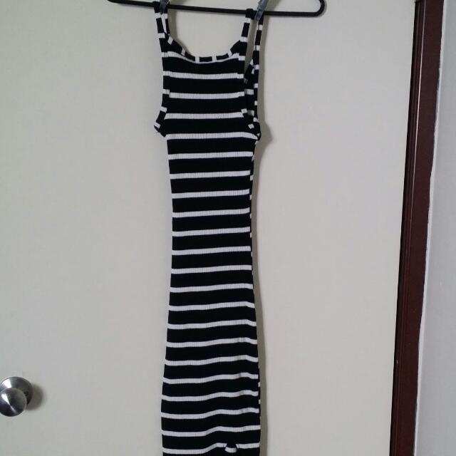 Stripy Full Length Dress