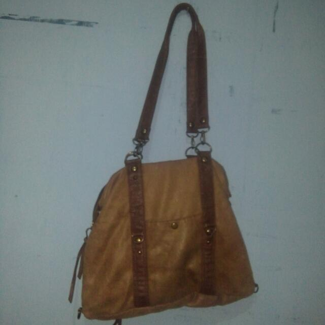 2nd Suede + Leather Bag