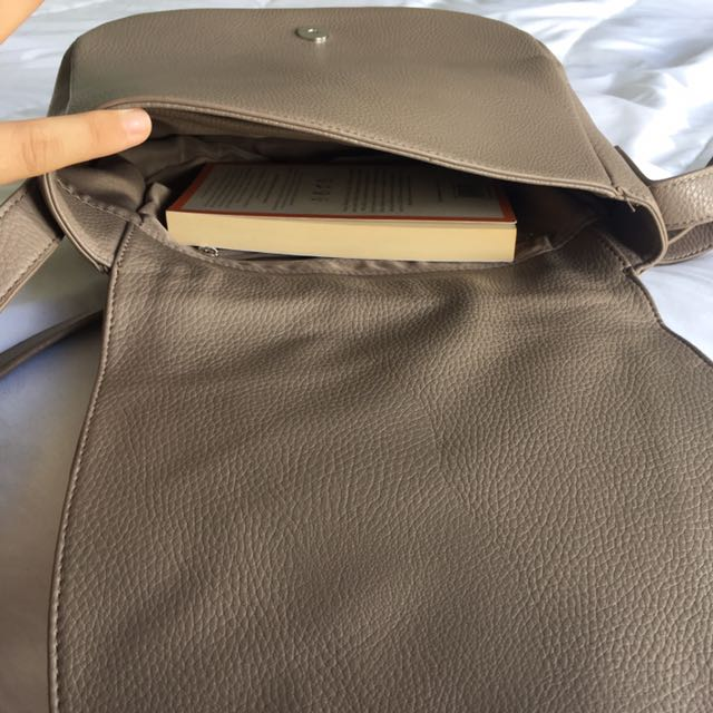 SUSSAN Taupe Saddle Across Body Handbag