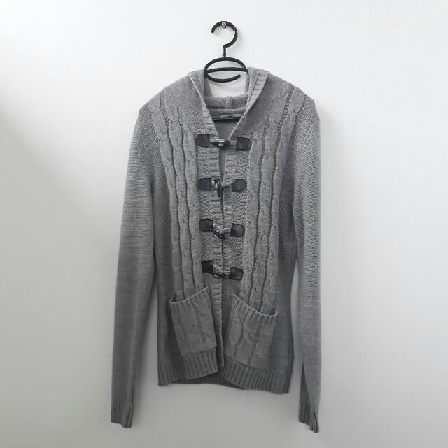 Terranova Gray Knitted Hoodie