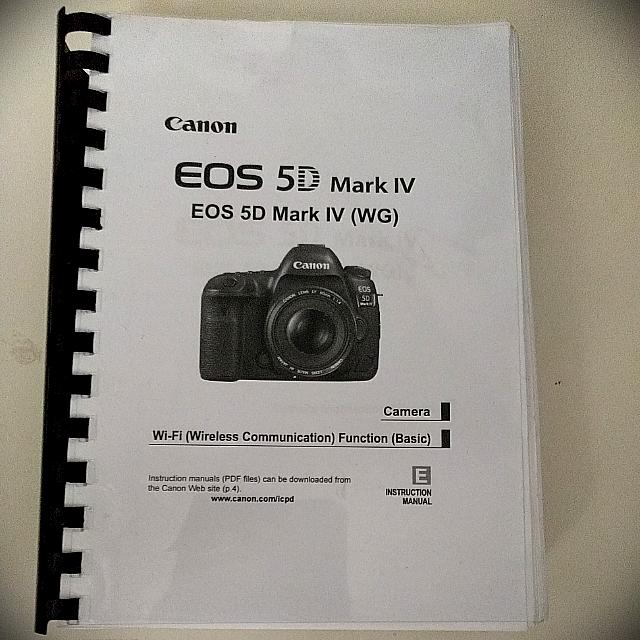 The Complete Canon 5D MarkIV Manual Guide Full 600 Pages