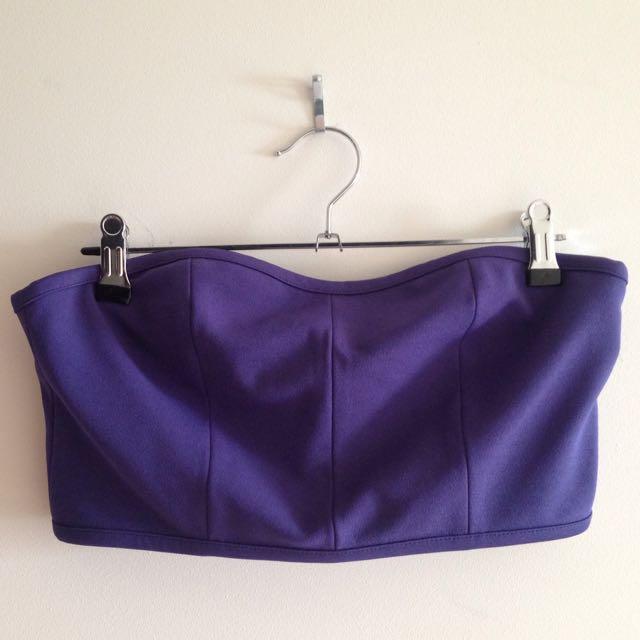 💵Price Drop!💵 Topshop Purple Zip Bandeau