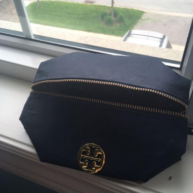 Tory Burch Makeup Bag - Navy Blue