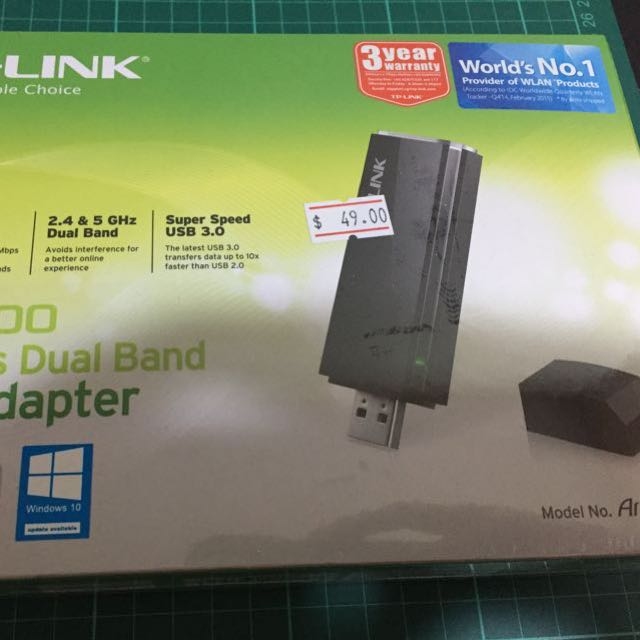 TP-LINK AC1200 Wireless Dual Band USB Adapter Brand New and Sealed Box