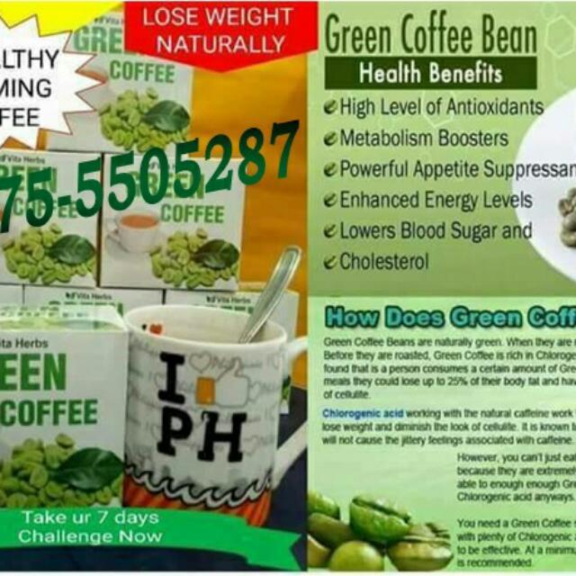 Vita Herbs Green Coffee Bean Powder Health Beauty Perfumes