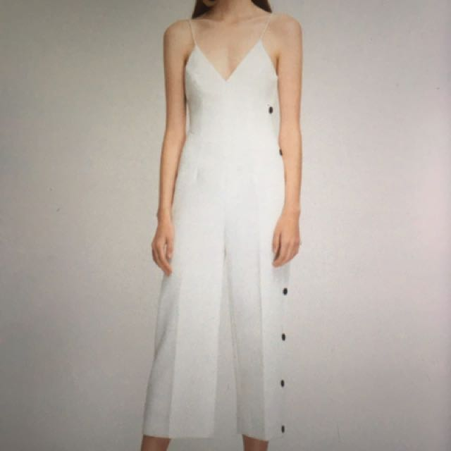 White Cameo Jumpsuit Size small