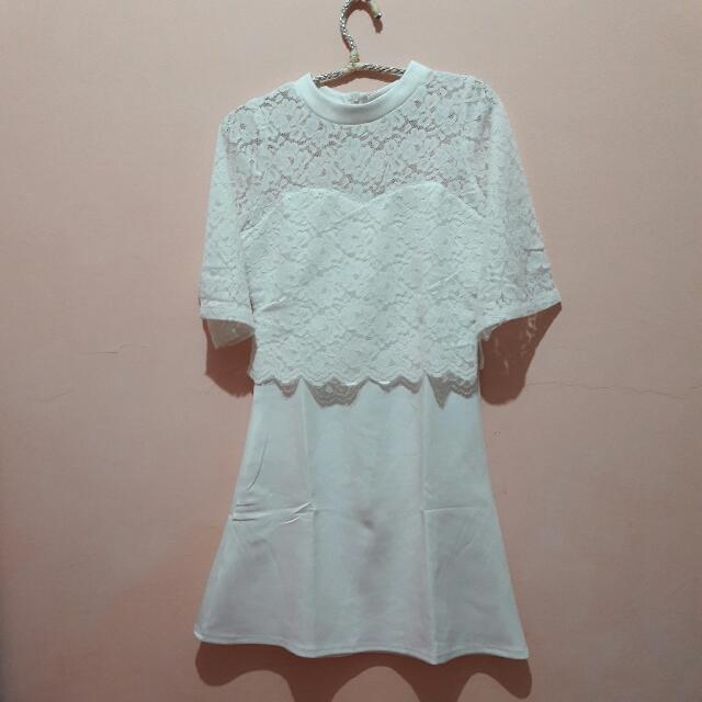 White Dress - Brokat