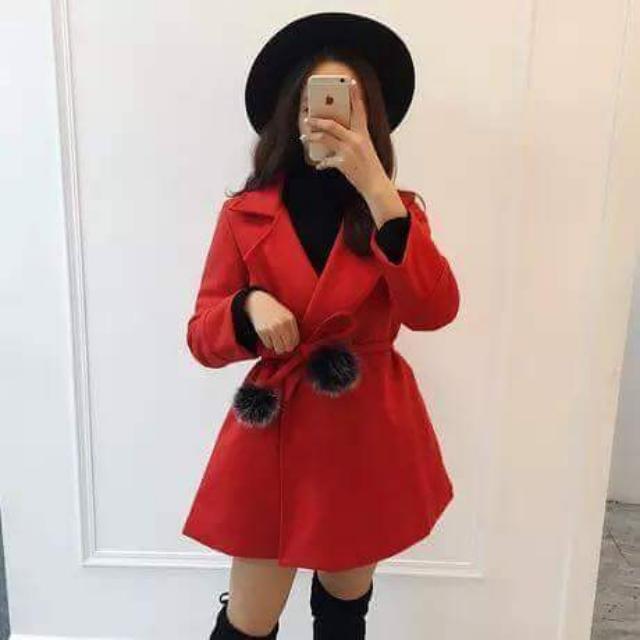 Winter Red Coat Sz6-8