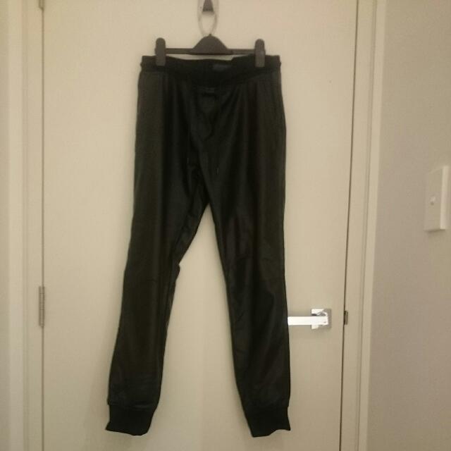 """Zara Man Black """"leather"""" Pants"""