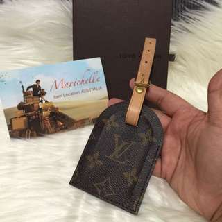 Louis Vuitton Monogram Luggage Tag From Louboutin Shopper Tote