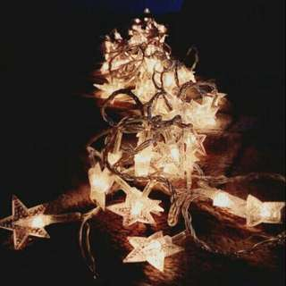 4m Warm White Star Shaped Fairy Lights (in Battery)
