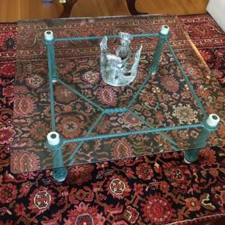 Beveled Glass And Wrought Iron Coffee Table