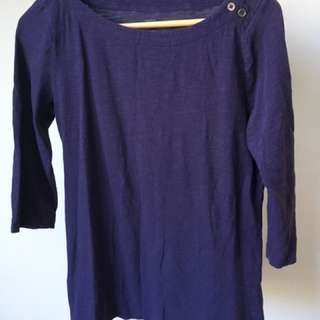 Ann Taylor Loft 3/4 Sleeve Top