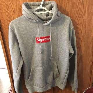 *REDUCED* Faux Supreme Grey Box Logo Hoodie