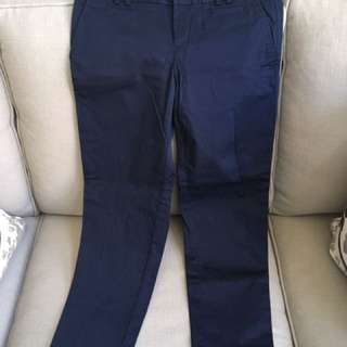 Banana Republic Navy Crops Size 2