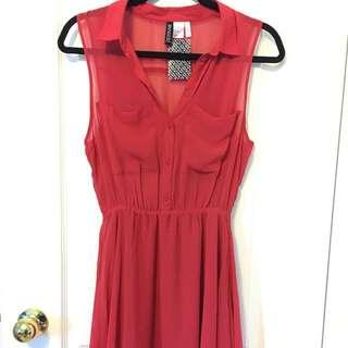 Coral Sheer Dress