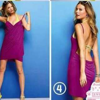 Repriced: 2-pc swim wear + open back beach cover up