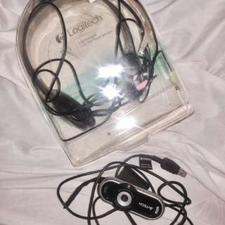 Bundle logitech Headphones And A4tech Webcam