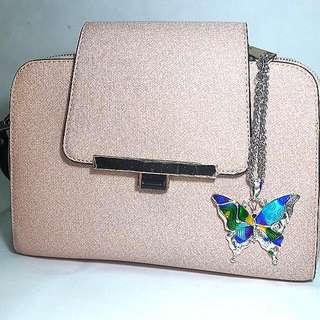 Silver Pendant Butterfly Bag Charm (With Free Gifts)