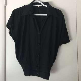 Size M. Black Cotton/Polyester Shirt