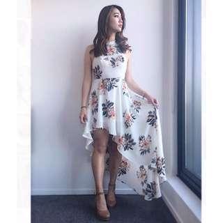 Floral chiffon dress💕