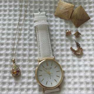 Necklace, Earrings & Watch Collection