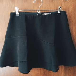 Black Flare Out Skirt