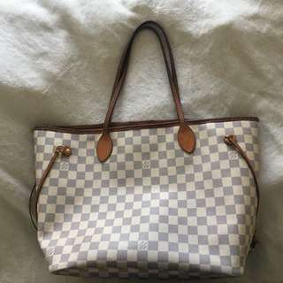 Preloved Louis Vuitton Neverfull MM Azur