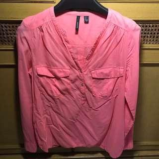 Kemeja MANGO Pink - Preloved
