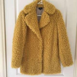 Topshop Fur Pea Coat